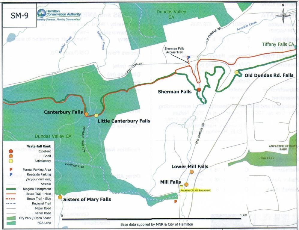 8b Map Old Dundas Rd Falls area