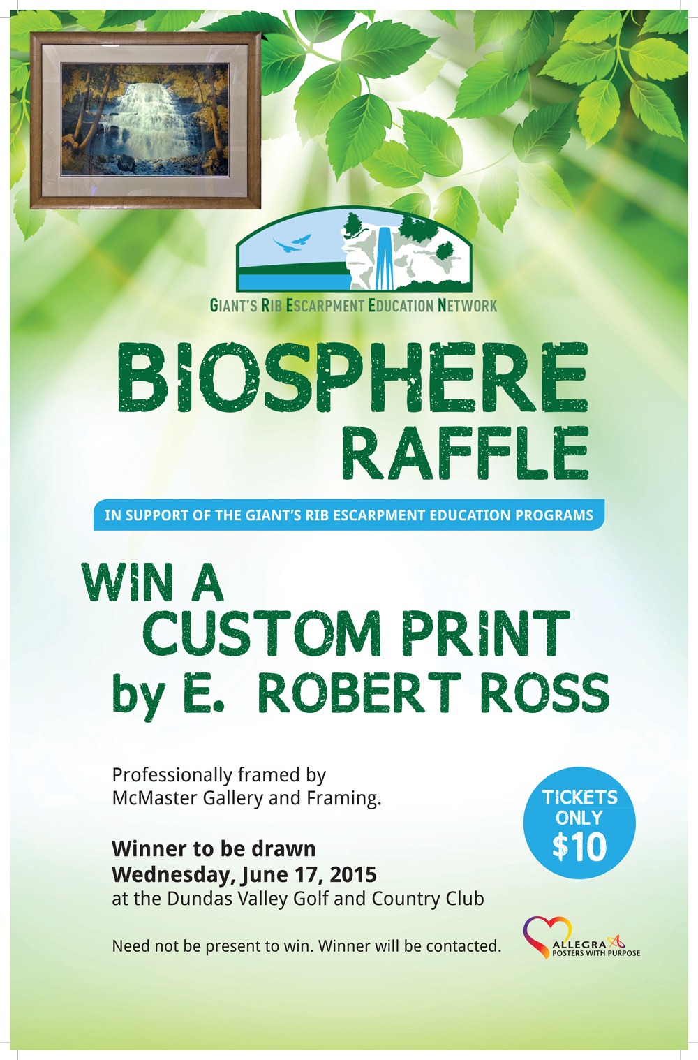 e robert ross framed print could be yours telling the story of raffle poster e robert ross web