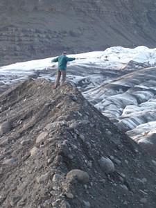 walkin on glacier